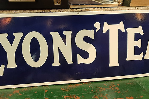 Lyons Tea large metal sign