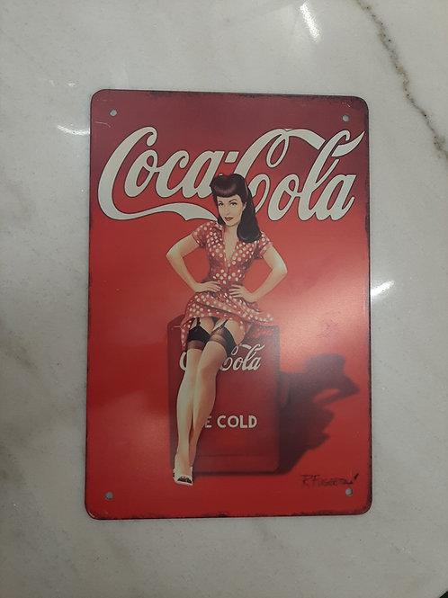 Coca Cola light metal sign (Reproduction)