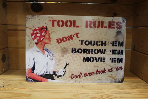 Tool rules (Light sign)