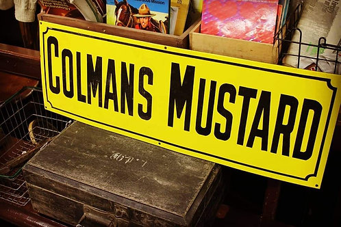 Colman's Mustard Large metal sign