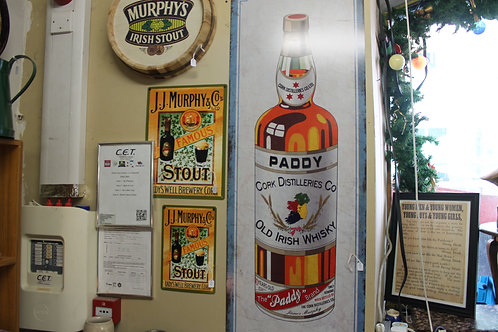Paddy's whiskey (Large) reproduction metal sign