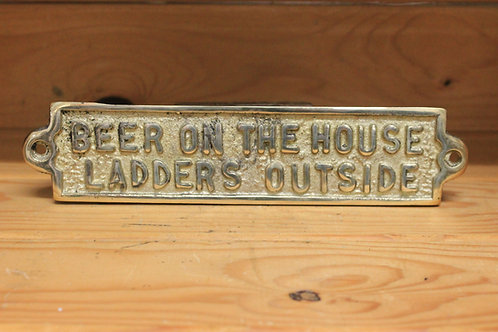 Beers on the house ladders outside🍺🏠