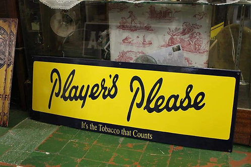 Player Please large metal sign (Reproduction)