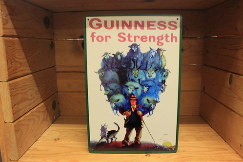 Guinness for strength metal sign (Reproduction)