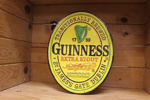 Guinness Oval Cast Iron Sign (Small)