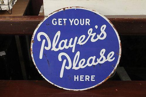 Players please reproduction metal sign.