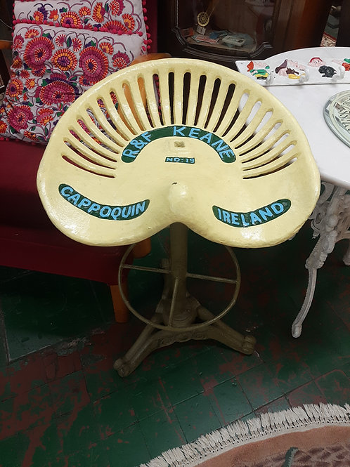 R and f Keane reproduction cast iron tractor seat.