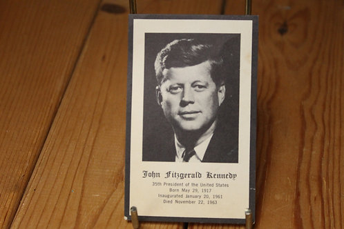 John F Kennedy memorial card