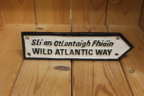 Wild Atlantic Way (Small) Cast Iron Sign