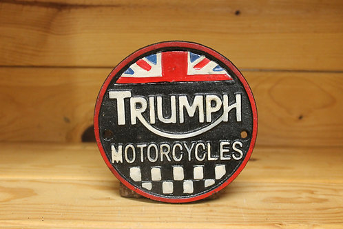 Triumph motorcycles cast iron sign (small)