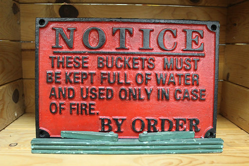 Notice (Cast Iron Sign)