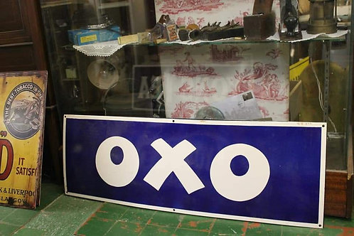 Oxo large metal sign (Reproduction)