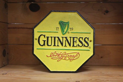 Guinness Cast iron sign (large) reproduction