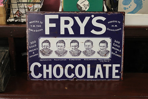 Fry's chocolate ( Reproduction metal sign)