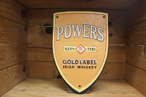 Powers Whiskey cast iron sign (Large) reproduction
