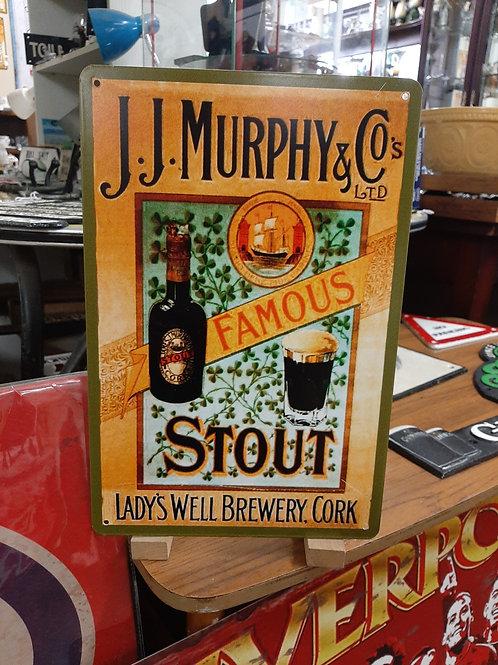J.J Murphy's metal sign (Reproduction) small