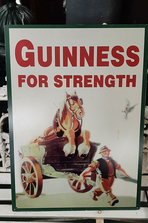 Large Guinness for strength metal sign (Reproduction)