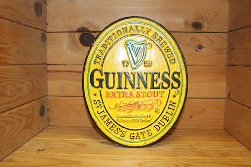 Guinness Oval Cast Iron Sign (Large)