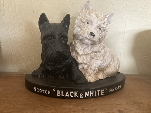 Black and white resin whiskey dogs