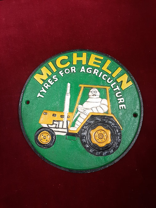 Michelin cast iron sign Reproduction