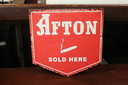 Afton Double Sided metal sign (Reproduction)