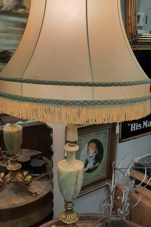 Vintage Brass/Marble Lamp