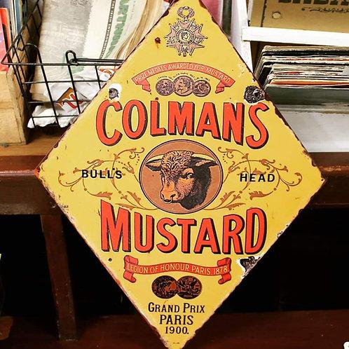 Colman's Mustard Metal Sign (Reproduction)