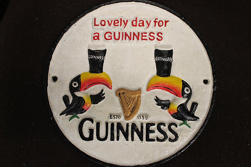 Round lovely day for a Guinness reproduction Cast iron sign