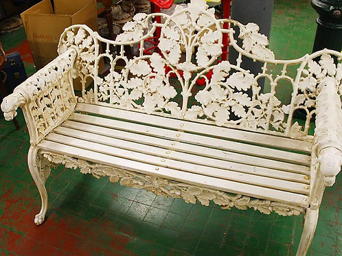 Ornate Cast Iron seat.