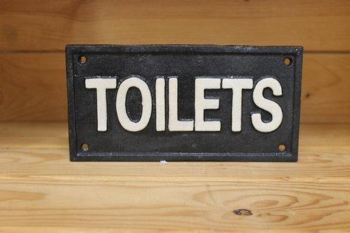 Toilets Cast Iron Sign