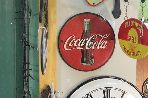 Coca Cola sign (cast iron)