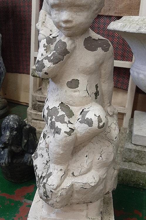 Stone Girl on Pedastal (Vintage)
