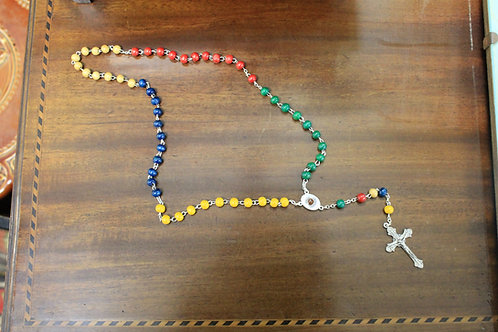 Vintage multicolored rosary beads