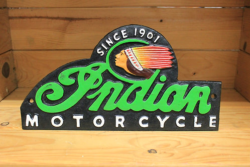 Indian motorcycle cast iron sign (Reproduction)