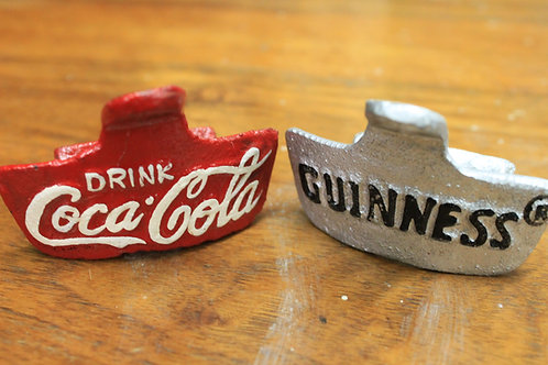Coca Cola and Guinness bottle openers (pair)