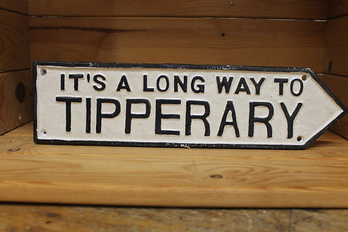 It's a long way to Tipperary (Large) cast iron sign.