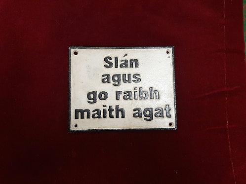 Cast Iron Sign (Reproduction) Slán