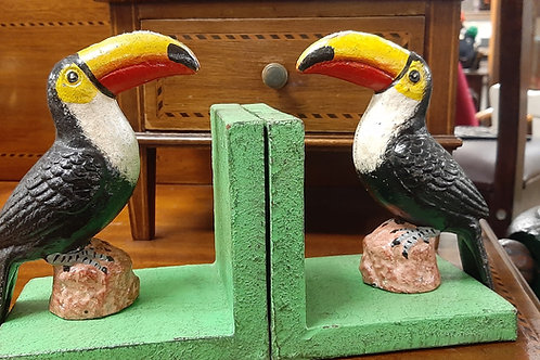 Cast Iron Toucan bookends (Pair)