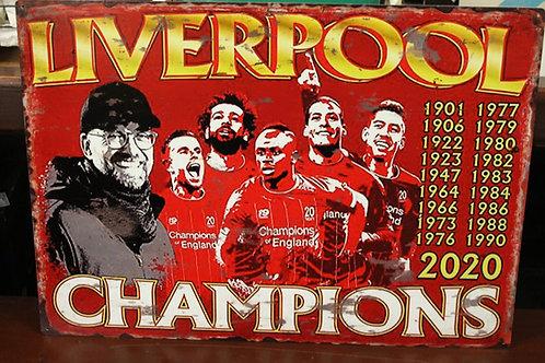 Liverpool metal sign
