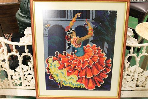 Flamingo Dancer (Cross stitch picture)