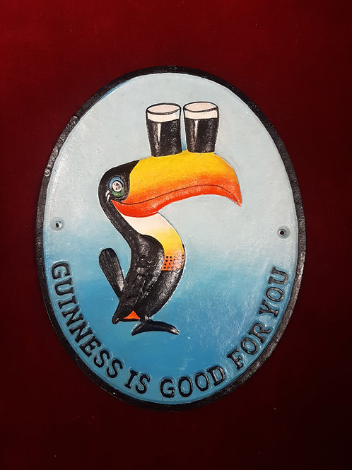 Cast Iron Guinness sign Reproduction