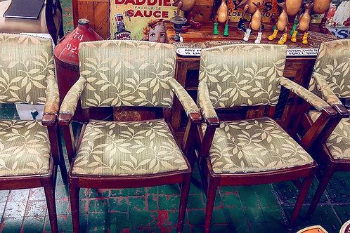 4 mahogany dining room chairs