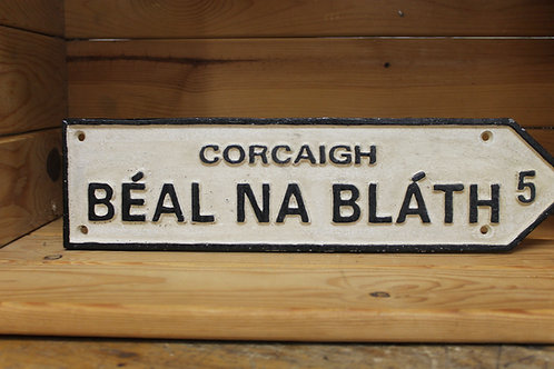 Béal Na Bláth (Large Cast Iron Sign)