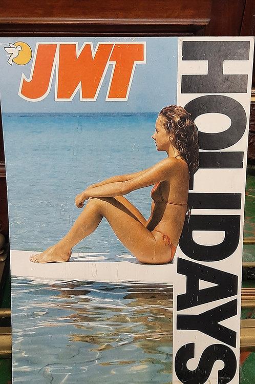 Vintage Joe Walsh tours cardboard 80s holiday poster