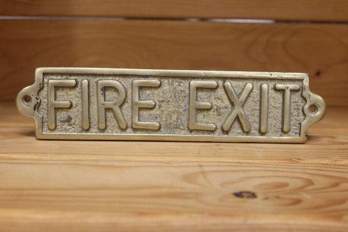Fire exit (Brass sign)