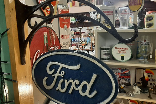 Cast iron Ford sign with bracket.
