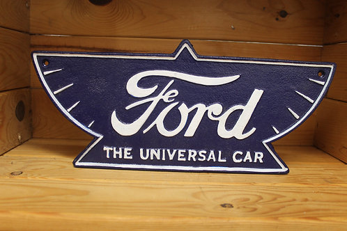 Ford cast iron sign.