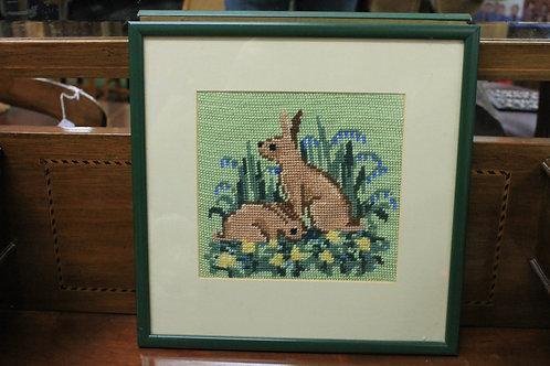 Cross stitch Rabbit picture.