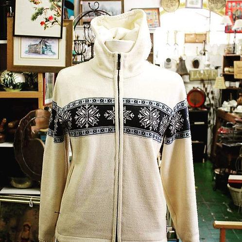 Cream/Navy windbreaker hoody
