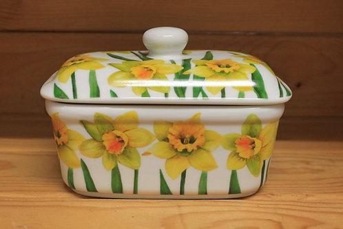 Daffodil butter dish.